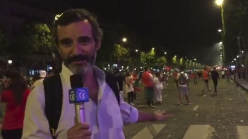 Coração de Paris repleto de portugueses em festa