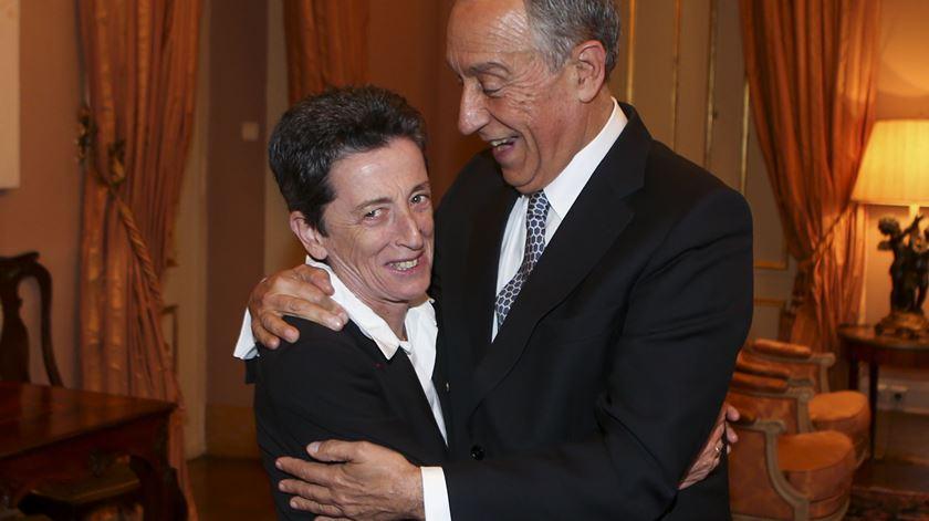 Rosa Mota e Marcelo Rebelo de Sousa. Foto: Manuel de Almeida/Lusa