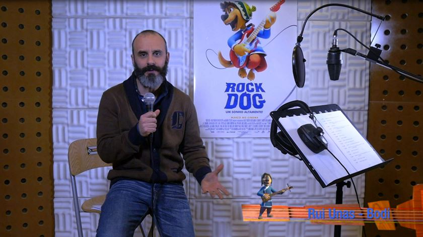 """Rui Unas diz-lhe por que é que deve ir ver """"Rock Dog - Um Sonho Altamente""""?"""