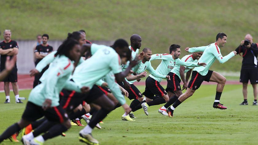 A seleção portuguesa corre para o Mundial cotada como a quarta melhor equipa do mundo. Foto: Miguel A. Lopes/Lusa