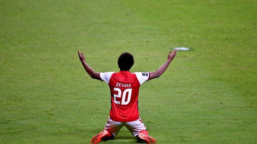 Zé Luís jogou pelo Braga, onde foi treinado por Sérgio Conceição e Toni. Foto: DR